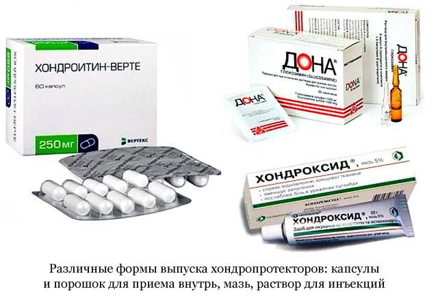 készítmények együttes kezelésre szolgáló kondroprotektorok számára térdízület és borjak fájdalma