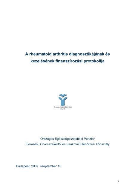 seronegatív rheumatoid arthritis hogyan kell kezelni ízületi problémák táplálkozás